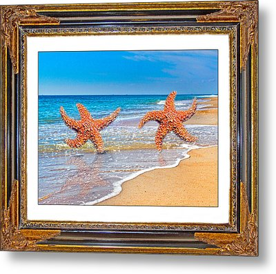 Dancing To The Beat Of The Sea Metal Print by Betsy Knapp