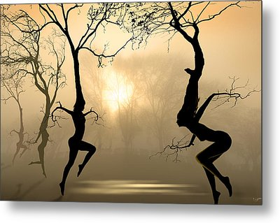Dancing Trees Metal Print by Igor Zenin