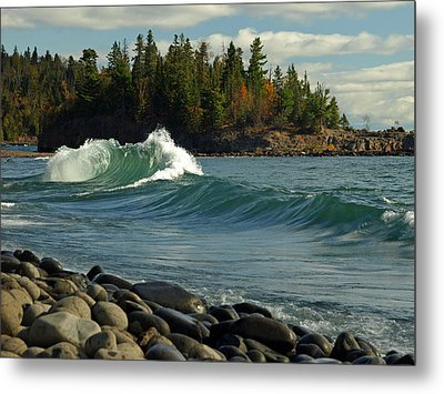 Metal Print featuring the photograph Dancing Waves by James Peterson