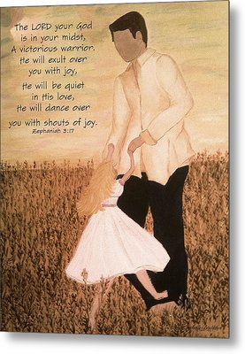 Dancing With Daddy Metal Print by Michelle Bentham