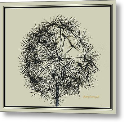 Metal Print featuring the photograph Dandelion 6 by Kathy Barney