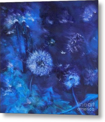 Dandelion Night Metal Print