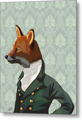 Dandy Fox Portrait Metal Print by Kelly McLaughlan