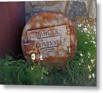 Danger Explosives Metal Print by David Pantuso