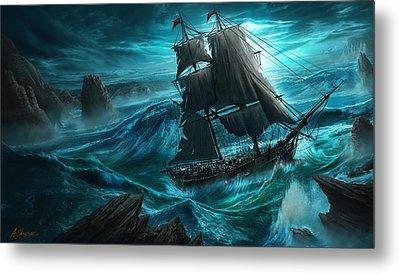 Dangerous Seas Metal Print by Anthony Christou