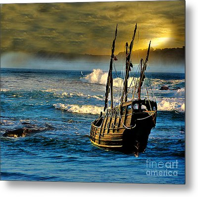 Dangerous Waters Metal Print
