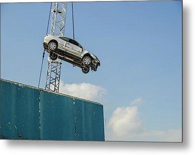 Dangling Car Metal Print by Robert Brook
