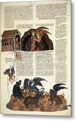 Daniel In The Lions' Den, 1430 Artwork Metal Print