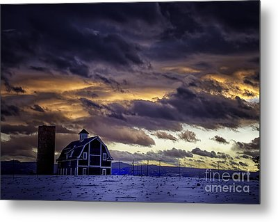 Metal Print featuring the photograph Daniel's Foreboding Sunset by Kristal Kraft