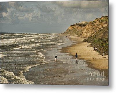 Danish Beach In North Jutland Metal Print