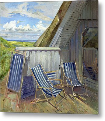 Danish Blue, 1999-2000 Oil On Canvas Metal Print by Timothy Easton