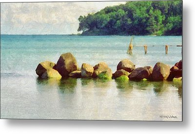 Danish Coast On The Rocks Metal Print by Jeff Kolker