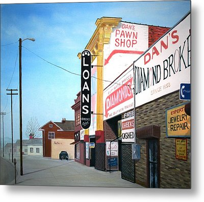 Metal Print featuring the painting Dan's by Stacy C Bottoms
