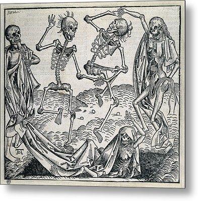 Danse Macabre Or Dance Of Death 1493 Metal Print by Everett