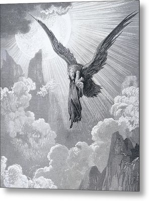 Dante And The Eagle Metal Print by Gustave Dore