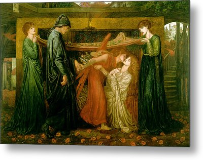 Dantes Dream At The Time Of The Death Of Beatrice 1856 Metal Print by Philip Ralley