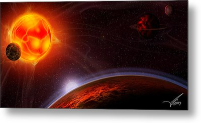 Dante's Symphony Metal Print by Anthony Citro