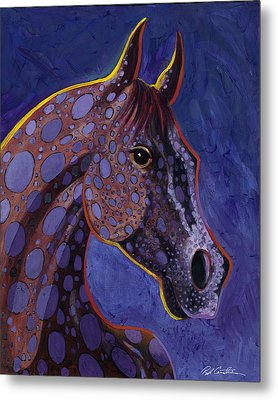 Metal Print featuring the painting Dapple Grey by Bob Coonts