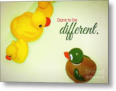 Metal Print featuring the digital art Dare To Be Different by Valerie Reeves