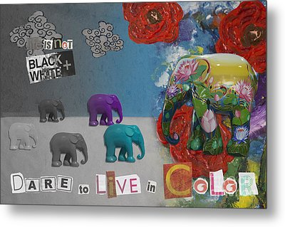 Dare To Live In Color Metal Print by Nola Lee Kelsey