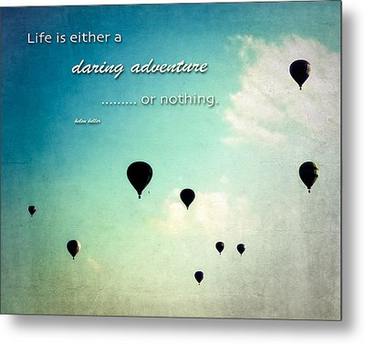 Metal Print featuring the photograph Daring Adventure Hot Air Balloons by Eleanor Abramson