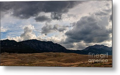 Metal Print featuring the photograph Dark Clouds On The Horizon by Charles Kozierok