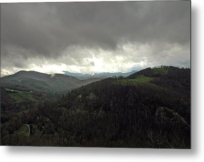 Dark Clouds Over Cashiers Metal Print by Allen Carroll