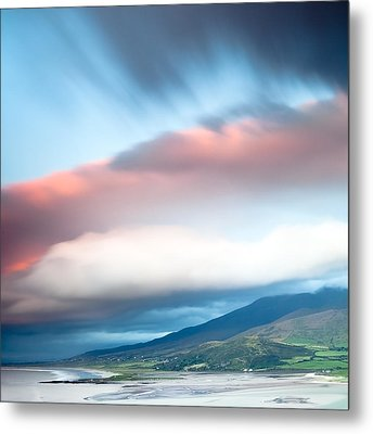 dark clouds over Irish coast Dingle peninsula Metal Print by Dirk Ercken