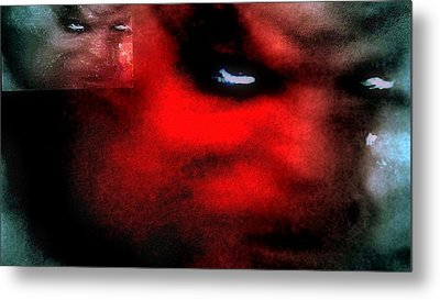 Dark Distored Demon Metal Print