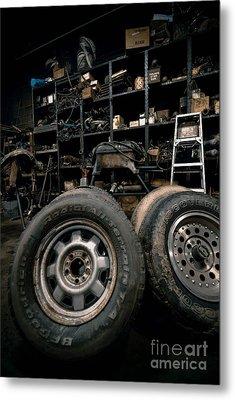 Dark Old Garage Metal Print by Amy Cicconi
