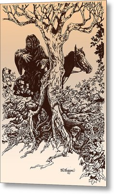 Dark Rider-tolkien Appreciation Metal Print
