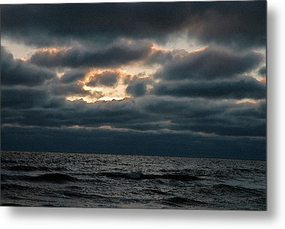 Dark Sea Metal Print by Allen Carroll