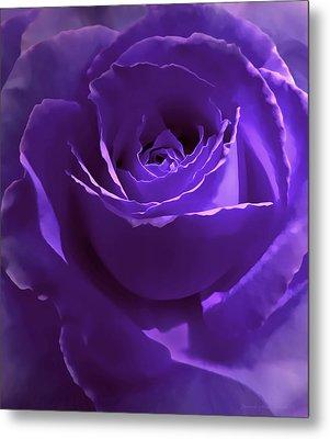 Dark Secrets Purple Rose Metal Print