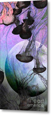 Dark Side Of The Moon 5d24939 Painterly P180 Long Metal Print