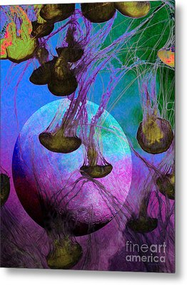 Dark Side Of The Moon 5d24939 Painterly P88 Metal Print by Wingsdomain Art and Photography