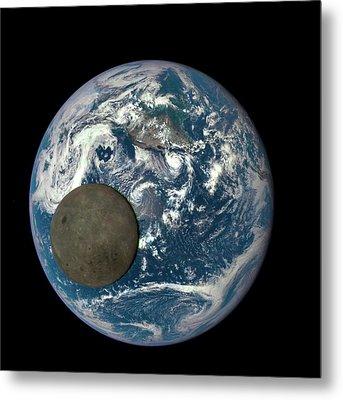 Dark Side Of The Moon Metal Print by Nasa/ Dscovr Epic Team