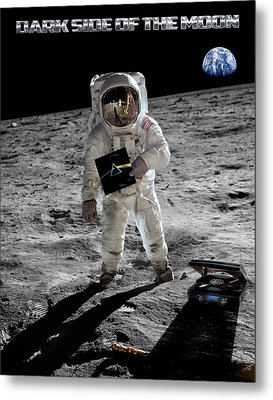 Dark Side Of The Moon Metal Print by Peter Chilelli