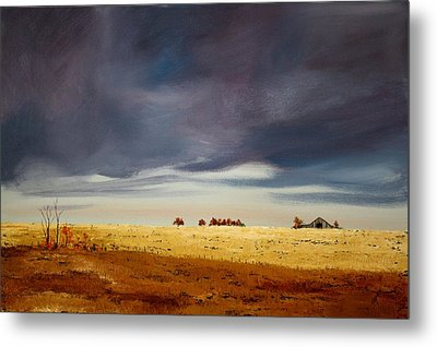Metal Print featuring the painting Dark Sky by William Renzulli