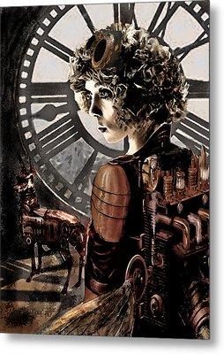 Dark Steampunk Metal Print by Jane Schnetlage
