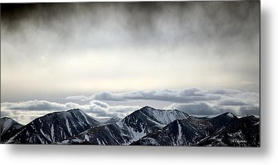 Dark Storm Cloud Mist  Metal Print by Barbara Chichester
