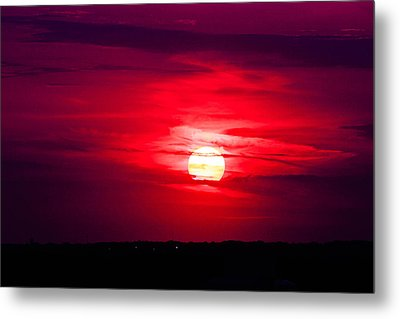 Dark Sunset Metal Print by Julie Andel
