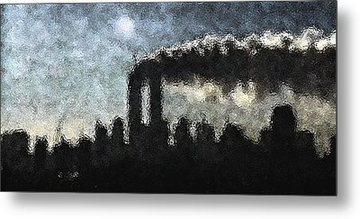 Dark Surreal Silhouette  Metal Print
