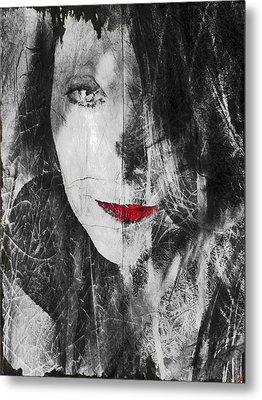 Dark Thoughts Metal Print by Linda Sannuti