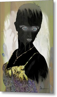 Dark Vision - Featured On Comfortable Art And A Place For All Groups Metal Print by EricaMaxine  Price