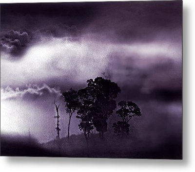 Metal Print featuring the painting Dark World by Persephone Artworks