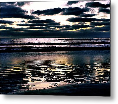 Darkness Can Only Be Scattered By Light Metal Print by Sharon Soberon