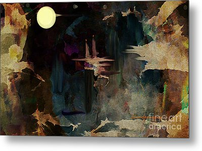 Darkness In The Old City Metal Print by Sherri's Of Palm Springs