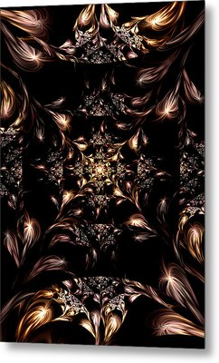 Metal Print featuring the digital art Darkness Will Come by Lea Wiggins