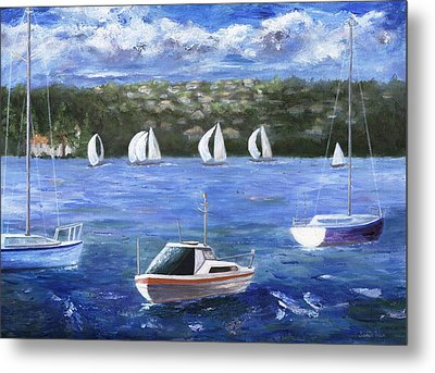 Metal Print featuring the painting Darling Harbor by Jamie Frier