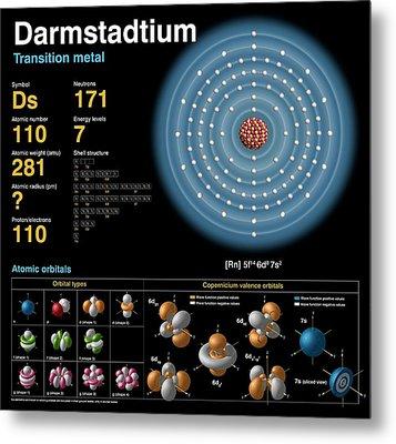 Darmstadtium Metal Print by Carlos Clarivan